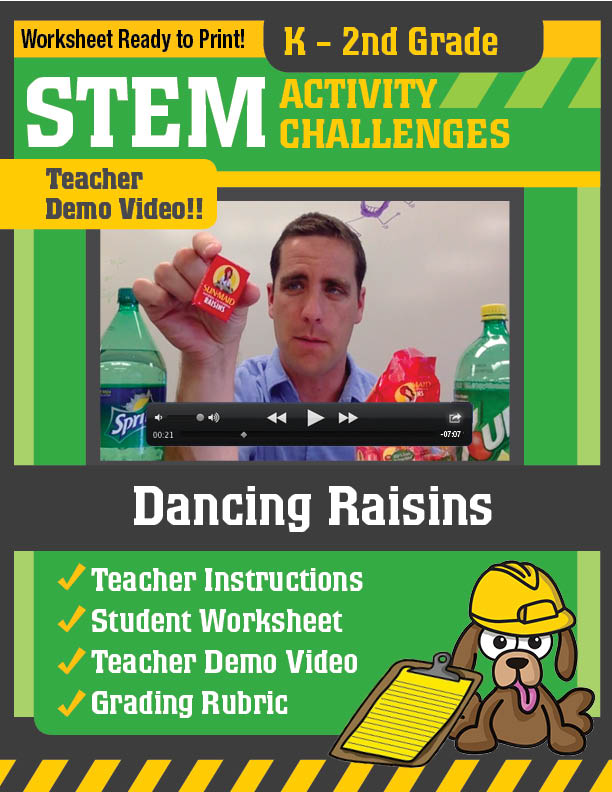 K 2nd Grade Science Demo Guy – Dancing Raisins Worksheet