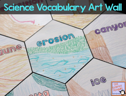 science vocabulary poster