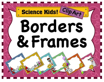 Science STEM lab borders frames