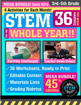 stem for the whole year 3-5th Grade