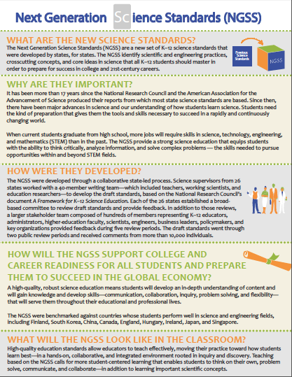 NGSS Fact Sheet